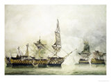 H.M.S. Victory at the Battle of Trafalgar, 1805 Giclee Print by John Constable