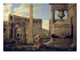 Hermit Among the Ruins Giclee Print by Nicolas Poussin