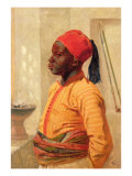 Half Length Portrait of an Arab Boy Giclee Print by Frederick Goodall