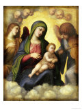 Madonna and Child with Angels circa 1510-15 Giclee Print by Correggio