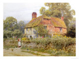 A Surrey Cottage Premium Giclee Print by Helen Allingham