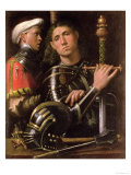 Warrior with Groom Giclee Print by  Giorgione