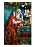 St. Jerome in His Study, 1480 (Detail) Giclée-tryk af Domenico Ghirlandaio