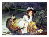 Young Woman in a Boat, or Reflections, circa 1870 Giclee Print by James Tissot