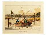 Fishing in a Punt, Aquatinted by I. Clark, Published by Thomas Mclean, 1820 Giclee Print by Henry Thomas Alken