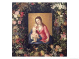 Garland of Fruit and Flowers with Virgin and Child (Detail) Giclee Print by Jan Brueghel the Elder