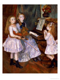 The Daughters of Catulle Mendes at the Piano, 1888 Giclee Print by Pierre-Auguste Renoir