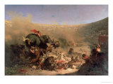 The Christians Thrown to the Beasts by the Romans Premium Giclee Print by Louis Felix Leullier