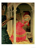 Detail from the Annunciation Showing the Angel Gabriel Giclée-Druck von  Fra Angelico