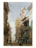 Corso Sant'Anastasia, Verona, with the Palace of Prince Maffei, 1826 Giclee Print by Richard Parkes Bonington
