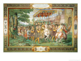 "Francis I and Alessandro Farnese Entering Paris in 1540, from the ""Sala Dei Fasti Farnese"" 1557-66 Giclee Print by Taddeo & Federico Zuccaro Or Zuccari"