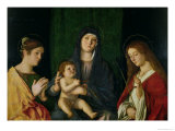 The Virgin and Child with St. Catherine and St. Ursula Giclee Print by Giovanni Bellini