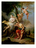 Diana and Endymion Reproduction procédé giclée par Frans Christoph Janneck