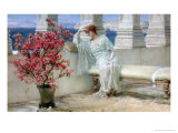 Her Eyes are with Thoughts and They are Far Away Premium Giclee Print by Sir Lawrence Alma-Tadema