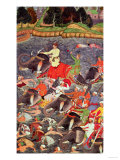 Emperor Akbar Crossing the River Ganges in 1567, from the &quot;Akbarnama&quot; Made by Abu&quot;L Fazi, 1590-98 Giclee Print