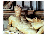 Tomb of Lorenzo De Medici, Detail of Dusk Giclee Print by  Michelangelo Buonarroti