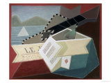 A Guitar Facing the Sea Premium Giclee Print by Juan Gris