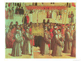 Procession in the St. Mark's Square, Detail of the Basilica, 1496 Giclee Print by Gentile Bellini