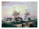 Battle of Trafalgar, 21st October 1805 Giclee Print by William John Huggins