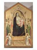 The Madonna Di Ognissanti, circa 1310 (Pre-Restoration) Giclee Print by  Giotto di Bondone