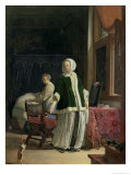 The Morning Toilet of a Young Lady Lámina giclée por Frans Van Mieris