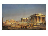 The Parthenon, 1863 Reproduction procédé giclée par Ippolito Caffi