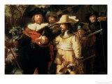 The Nightwatch, circa 1642 (Detail) Giclee Print by  Rembrandt van Rijn