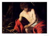 St. John the Baptist, circa 1598-99 Giclee Print by Caravaggio 