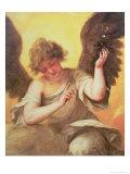 An Angel Holding a Glass Flask Giclée-Druck von Juan de Valdes Leal