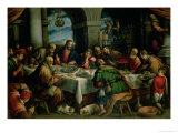 Den sidste nadver Giclée-tryk af Francesco Bassano