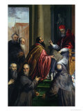 Pope Paul IV Handing over a Statute Giclee Print by  Palma Il Giovane