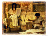 Joseph, Overseer of the Pharaohs Giclee Print by Sir Lawrence Alma-Tadema