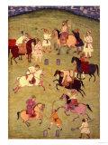 A Game of Polo, from the Large Clive Album Digitálně vytištěná reprodukce