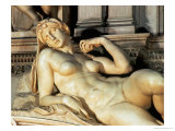 Tomb of Lorenzo De Medici, Detail of Dawn Giclee Print by Michelangelo Buonarroti