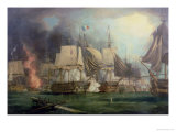Battle of Trafalgar, 1805 Premium Giclee Print by George Chambers