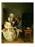 The Glass of Lemonade Lámina giclée por Gerard Terborch