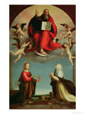 God Appearing to St. Mary Magdalen and St. Catherine of Siena, c. 1508 Lámina giclée por Fra Bartolommeo