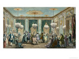 The Evening Dress Ball at the House of Monsieur Villemorien Fila Impression giclée par Augustin De Saint-aubin