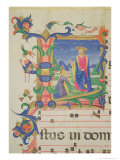Historiated Initial &quot;L&quot; Depicting Christ Appearing to Mary Magdalene Giclee Print by Zanobi Di Benedetto Strozzi