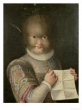 Portrait of a Girl Covered in Hair Giclee Print by Lavinia Fontana