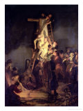 The Descent from the Cross Reproduction proc&#233;d&#233; gicl&#233;e par Rembrandt van Rijn 