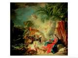 The Rest on the Flight into Egypt Giclee Print by Francois Boucher