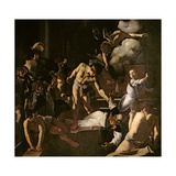 The Martyrdom of St. Matthew, 1599-1600 (Oil on Canvas) Giclee Print by Michelangelo Merisi da Caravaggio
