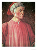 Dante Alighieri Detail of His Bust, from the Villa Carducci Series of Famous Men and Women, c. 1450 Premium Giclee Print by  Andrea del Castagno