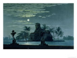 "Garden Scene with the Sphinx in Moonlight, Act II Scene 3, Set Design for ""The Magic Flute"" Giclee Print by Karl Friedrich Schinkel"