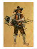 "A Forester, Costume Design for ""As You Like It,"" Produced by R. Courtneidge at the Princes Theatre Giclee Print by C. Wilhelm"