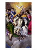 The Trinity, 1577-79 Giclée-tryk af  El Greco