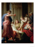 Achilles at the Court of King Lycomedes with His Daughters Premium Giclee Print by Pompeo Batoni