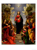 Immaculate Conception and Six Saints Giclee Print by Piero di Cosimo