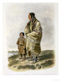 Dacota Woman and Assiniboin Girl Giclee Print by Karl Bodmer